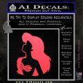 The Little Mermaid Ariel Profile Decal Sticker Pink Vinyl Emblem 120x120