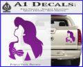 The Little Mermaid Ariel Profile Decal Sticker Purple Vinyl 120x97