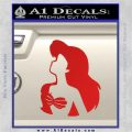 The Little Mermaid Ariel Profile Decal Sticker Red Vinyl 120x120