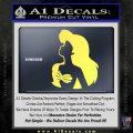 The Little Mermaid Ariel Profile Decal Sticker Yelllow Vinyl 120x120