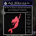 The Little Mermaid D4 Decal Sticker Ariel Pink Vinyl Emblem 120x120