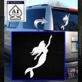 The Little Mermaid D4 Decal Sticker Ariel White Emblem 120x120