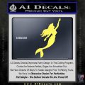 The Little Mermaid D4 Decal Sticker Ariel Yelllow Vinyl 120x120