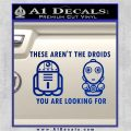 These Are Not the Droids Youre Looking For Cute Droid Decal Sticker Blue Vinyl 120x120