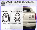 These Are Not the Droids Youre Looking For Cute Droid Decal Sticker Carbon Fiber Black 120x97