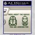 These Are Not the Droids Youre Looking For Cute Droid Decal Sticker Dark Green Vinyl 120x120