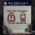 These Are Not the Droids Youre Looking For Cute Droid Decal Sticker Dark Red Vinyl 120x120