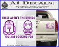 These Are Not the Droids Youre Looking For Cute Droid Decal Sticker Purple Vinyl 120x97