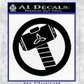 Thors Hammer Mjolnir Vinyl Decal Sticker Black Logo Emblem 120x120