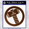 Thors Hammer Mjolnir Vinyl Decal Sticker Brown Vinyl 120x120