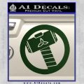 Thors Hammer Mjolnir Vinyl Decal Sticker Dark Green Vinyl 120x120