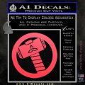 Thors Hammer Mjolnir Vinyl Decal Sticker Pink Vinyl Emblem 120x120