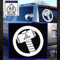 Thors Hammer Mjolnir Vinyl Decal Sticker White Emblem 120x120