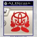 Toyota Devil Man Middle Fingers JDM Vinyl Decal Sticker Red Vinyl 120x120