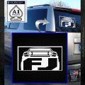 Toyota FJ Cruiser Decal Sticker White Emblem 120x120