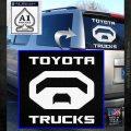 Toyota Trucks Decal Sticker White Emblem 120x120