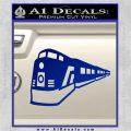 Train Decal Sticker Blue Vinyl 120x120