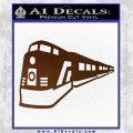Train Decal Sticker Brown Vinyl 120x120