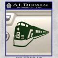 Train Decal Sticker Dark Green Vinyl 120x120