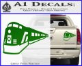 Train Decal Sticker Green Vinyl 120x97