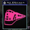 Train Decal Sticker Hot Pink Vinyl 120x120