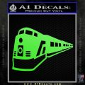 Train Decal Sticker Lime Green Vinyl 120x120