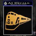 Train Decal Sticker Metallic Gold Vinyl 120x120