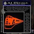 Train Decal Sticker Orange Vinyl Emblem 120x120