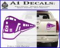 Train Decal Sticker Purple Vinyl 120x97