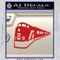 Train Decal Sticker Red Vinyl 120x120