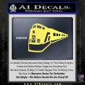 Train Decal Sticker Yelllow Vinyl 120x120