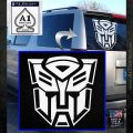 Transformer Autobots 3D Decal Sticker White Emblem 120x120