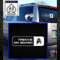 Trekkie on Board Decal Sticker White Emblem 120x120