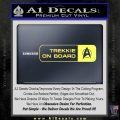 Trekkie on Board Decal Sticker Yelllow Vinyl 120x120