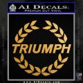 Triumph CR4 Decal Sticker Metallic Gold Vinyl Vinyl 120x120