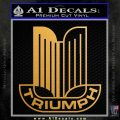 Triumph Logo RDZ Decal Sticker Metallic Gold Vinyl 120x120