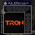 Tron Original Logo Vinyl Decal Sticker Orange Vinyl Emblem 120x120