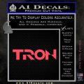 Tron Original Logo Vinyl Decal Sticker Pink Vinyl Emblem 120x120