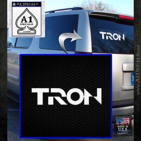 Tron Original Logo Vinyl Decal Sticker White Emblem
