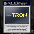 Tron Original Logo Vinyl Decal Sticker Yelllow Vinyl 120x120