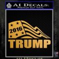 Trump Decal Sticker D4 Metallic Gold Vinyl Vinyl 120x120