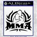 UFC MMA Rear Naked Choke Decal Sticker Black Logo Emblem 120x120