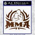 UFC MMA Rear Naked Choke Decal Sticker Brown Vinyl 120x120
