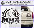 UFC MMA Rear Naked Choke Decal Sticker Carbon Fiber Black 120x97