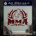 UFC MMA Rear Naked Choke Decal Sticker Dark Red Vinyl 120x120