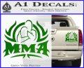 UFC MMA Rear Naked Choke Decal Sticker Green Vinyl 120x97