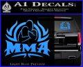 UFC MMA Rear Naked Choke Decal Sticker Light Blue Vinyl 120x97