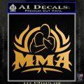 UFC MMA Rear Naked Choke Decal Sticker Metallic Gold Vinyl 120x120