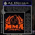 UFC MMA Rear Naked Choke Decal Sticker Orange Vinyl Emblem 120x120