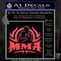 UFC MMA Rear Naked Choke Decal Sticker Pink Vinyl Emblem 120x120